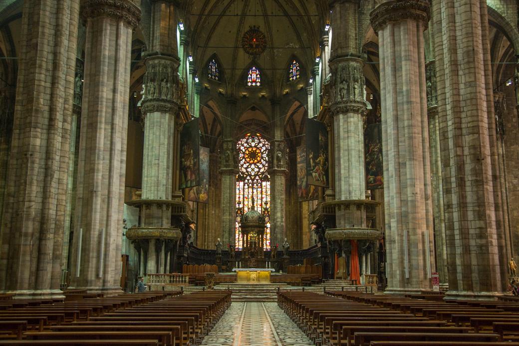 Interieur van de Dom van Milaan